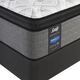 Sealy Posturepedic Response Performance Cooper Mountain IV Cushion Firm Pillow Top Queen Size Mattress with Ease 2.0 Adjustable Base