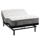 Sealy Posturepedic Response Performance Cooper Mountain IV Cushion Firm Queen Size Mattress with Ergo Adjustable Base