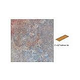 National Pool Tile Raku 3x12 Single Bullnose Pool Tile | Ocean Blue | RUOCEAN SBN