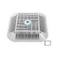 "AquaStar 14"" Square Anti-Entrapment Suction Outlet Cover Mud Frame and Retro-Adapter Sub-Frame | for 9"" Square | .75"" Deep Retrofits | White | 914101"