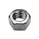 """Pentair Brass Nickel Plated Nut 3/8""""-16 Hex Head Stainless Steel 