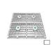 "AquaStar Four 9"" Square Wave Suction Outlet Covers with Vented Riser Rings and screws for 18"" Frame Retrofits (VGB Series) | White | WAV18WRNF101"