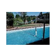SR Smith Swim N' Spike Commercial Volleyball Set with Stainless Steel Poles   32' Net Anchors Not Included   for Pools 30' to 36' in Width   VOLYC32-1