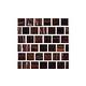 National Pool Tile Canyon Gems 1x1 Glass Tile   Golden   201-024