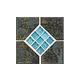 National Pool Tile Verona 6x6 Series | Boticas Green Deco | VR680 DECO