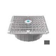 """AquaStar 12""""X12"""" Square Wave Suction Outlet and Deep Frame  & Vented Riser Ring   Dark Gray   WAV12WR105A"""
