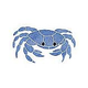 AquaStar Fillable Friends® Crab Stencil Only | White | F1003-01