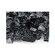 American Fireglass Half Inch Premium Collection | Gray Reflective Fire Glass | 10 Pound Jar | AFF-GRYRF12-J