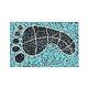 AquaStar Swim Designs Footprint Small Stencil Only Set of 2 | White | F1019-01
