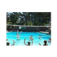 SR Smith Swim N' Spike Commercial Volleyball Set | 32' Net with Anchors & Stainless Steel Poles | for Pools 30' to 36' in Width | VOLYC32