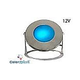 J&J Electronics ColorSplash LED Underwater Fountain Luminaire | Base Only No Guard | 12V 100' Cord | LFF-F1C-12-NG-WB-100