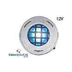 J&J Electronics ColorSplash LED Underwater Fountain Luminaire | With Guard No Base | 12V 10' Cord | LFF-F1C-12-WG-NB-10