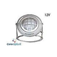 J&J Electronics ColorSplash LED Underwater Fountain Luminaire | With Guard And Base | 12V 50' Cord | LFF-F1C-12-WG-WB-50