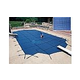 Arctic Armor 20-Year Super Mesh Right End Step Safety Cover | Rectangle 12' x 20' Blue | WS7021B
