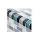 Artistry In Mosaics Crystal Series - Trim Aqua Blend Glass Tile   TRIM-GC82348T2