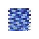 "Artistry In Mosaics Crystal Series - Cobalt Blue Blend Glass Tile | 1"" x 2"" | GC82348B2"