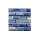 Artistry In Mosaics Watercolors Series 1x2 Glass Tile | Blue Brick | GW82348B10