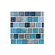 National Pool Tile Jules 1x1 Glass Tile   Rustic Blue Blend   9730-5AT