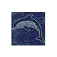 National Pool Tile Bermuda 6x6 Dolphin Deco | Blue Cobalt | CLD-BL-DL1