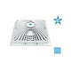 """AquaStar 9"""" Square MoFlow Suction Outlet Cover and Mud Frame   Blue   9MF104"""