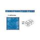 National Pool Tile Akron Field 3x3 Trim | Cloud Blue | KAK325 1/4RD