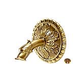 Water Scuppers and Bowls Venizia Small Spout with Mantova Emitter   French Gold   WSBWSME