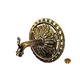Water Scuppers and Bowls Florence Spout with Large Escutcheon | French Gold | WSBFLORLG
