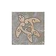 National Pool Tile Sierra 6x6 Turtle Deco   Blue Slate   CLD-BSL-TR1