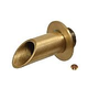 """Water Scuppers and Bowls 2"""" Brass Geo Round Fountain Spout 