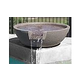 "Water Scuppers and Bowls Marseilles Fountain Bowl | 33"" Gray Smooth with Copper Scupper Insert 