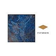 National Pool Tile Blue Seas 6x6 Single Bullnose Pool Tile | Rustic Blue | SEA-RUSTIC SBN