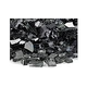 American Fireglass One Fourth Inch Classic Collection | Black Fire Glass | 25 Pounds | AFF-BLK-25
