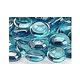 American Fireglass Half Inch Fire Beads Collection   Aqua Blue Luster Fire Beads   10 Pound Jar   FB-AQULST-J