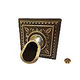 Water Scuppers and Bowls Santorini Water Scupper and Square Backplate | French Gold | WSBSWS713