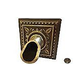 Water Scuppers and Bowls Santorini Water Scupper and Square Backplate   Antique Brass   WSBSWS713