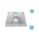 "AquaStar 9"" Square Retrofit MoFlow Suction Outlet Cover with Screw Kit | Blue | R9MF104"