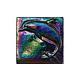 National Pool Tile Deco Accent Glass Tiles 4x4 Dolphin   Rainbow   OCN-RNDOLPHIN