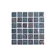 National Pool Tile Equinox 1x1 Glass Tile | Black Steel | EQX-OBSIDIAN