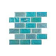 National Pool Tile Equinox 1x2 Glass Tile | Icy Teal | EQX-WINTER1X2