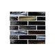 National Pool Tile Santorini Series 1x4 Glass Tile | Umbria Black | SAN-BLACK1X4