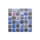 National Pool Tile Pacific Palisades Series 1x1 Glass Tile | Azure | PFS-OCEAN