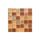 National Pool Tile Sea Ice Series 1x1 Glass Tile | Amber | ICE-AMBER