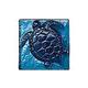 National Pool Tile Deco Accent Glass Tiles 4x4 Turtle   Bondi Iridescent   OCN-BI TURTLE