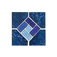 National Pool Tile Trident 6x6 Deco   Indigo   TRD-ABYSS DECO