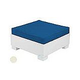 Ledge Lounger Affinity Collection Sectional | Ottoman Piece White Base | Oyster Standard Fabric Cushion | LL-AF-S-O-SET-W-STD-4642