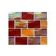 National Pool Tile Sea Ice Series 2x3 Glass Tile | Amber | ICE-AMBER2X3