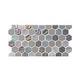 National Pool Tile Starburst Border Glass Tile | Smoke Gray | STA-SMOKE BDR