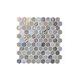 National Pool Tile Starburst Mosaic Glass Tile   Smoke Gray   STA-SMOKE