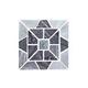 National Pool Tile Fusion Quartzite Mosaic Tile | Black Evening Star | BVQMS9006