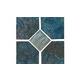 National Pool Tile Coral 6x6 Deco Tile   Teal   CRL-TEAL DECO GL